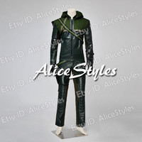 Newly Green Arrow Season 1 Oliver Queen Cosplay Costume Custom made in any size