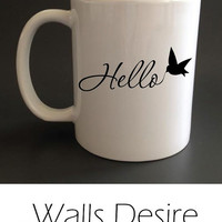 Hello, Mug, Different Inside Color Selection, 11 Oz. T00048