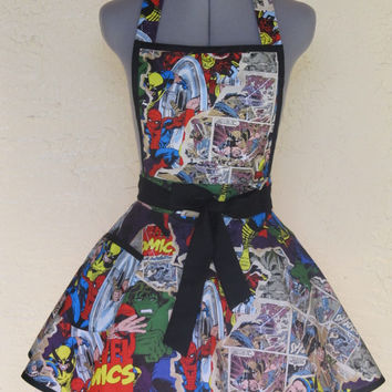 Marvel Comic Action Heros Apron- Pin Up - Very Limited Special Edition
