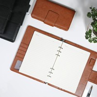New business office leather notebooks,fine spiral agenda planner organizer/binder weekly planner/travel journal stationery A5 A7