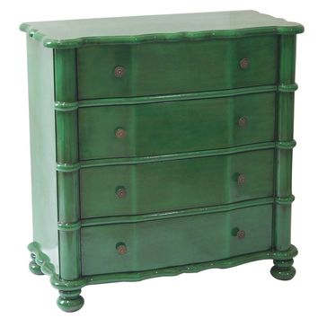 Kelly Emerald Green 4 Drawer Accent Chest