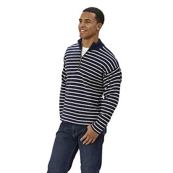 Long Sleeve Stripe 1/4 Zip Sweater