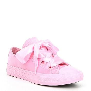 Converse Girls' Chuck Taylor® All Star® Big Eyelet Satin Oxfords | Dillards