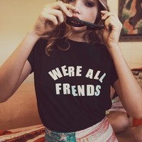 Wildfox Couture We're All Friends Retro Raglan in Clean Black
