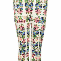 Tapestry Floral Cigarette Trousers - Multi