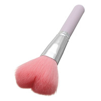 Pink Heart Shape Makeup Blush Brush Foundation Powder Cosmetic Tool