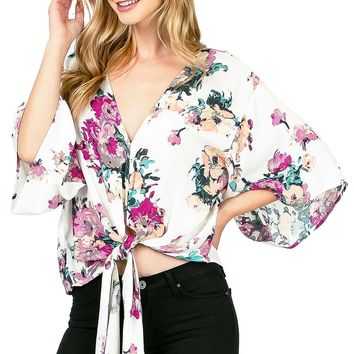 Sweet Escape Front-Tie Blouse