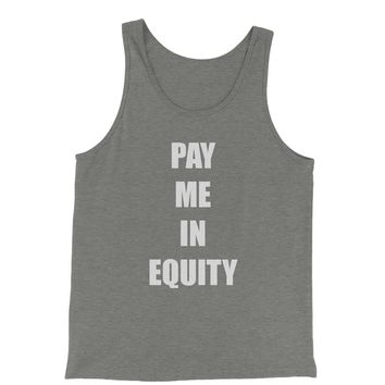 Pay Me In Equity Jersey Tank Top for Men
