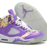Nike Air Jordan 5 Floral Girls Purple White Online Jordan 5 Floral Purple - Beauty Ticks