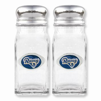 NFL Rams Glass Salt and Pepper Shakers - Etching Personalized Gift Item