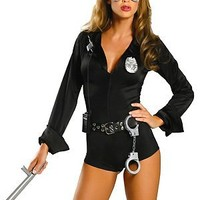 Roma Costume Women's My Way Patrol Sexy Patrol Cop Costumes For Women-M/L