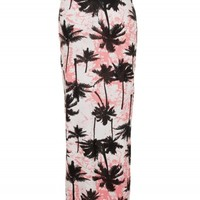 White/Pink Multi Hawaiian Maxi Skirt | Skirts | Desire