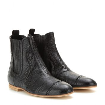 balenciaga - textured-leather ankle boots