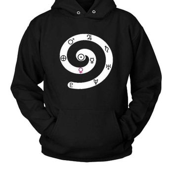 DCCKL83 Solar System Symbols Of Planets Hoodie Two Sided