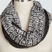 Printed Lace Eternity Scarf