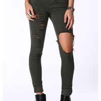Anna Distressed Destroyed Pants