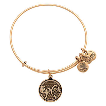 Disney Parks Epcot Charm Bangle Bracelet Alex & Ani Gold New With Tags