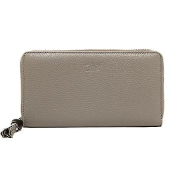 Gucci Women's Gray Bamboo Tassel Zip around Wallet 307984