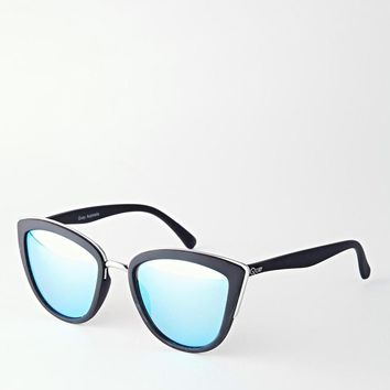 Quay Australia | Quay Australia My Girl Mirror Cat Eye Sunglasses at ASOS
