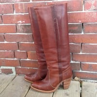 70's FRYE Campus Knee High Riding boot with by DreamingTreeVintage