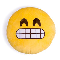 Grimacing Emoji Pillow
