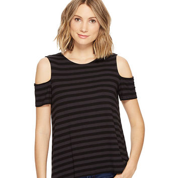 Michael Stars Sophie Stripe Cold Shoulder Tee at Zappos.com