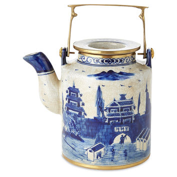 Great Wall Teapot, Blue/White, Small, Tea & Coffee Pots