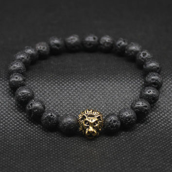 Trendy Stone Animal Bracelets For Men