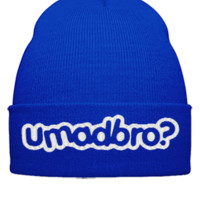 U MAD BRO EMBROIDERY - Beanie Cuffed Knit Cap