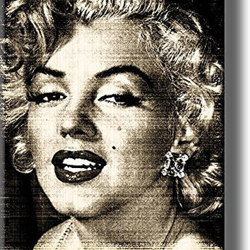 Marilyn Monroe Picture on Stretched Canvas, Wall Art Decor, Ready to Hang!