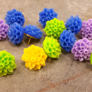 Pushpins Decorative Push Pins Mums Flower Fancy Tacks