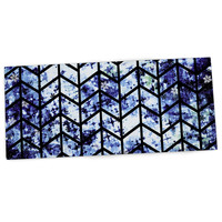 "Ebi Emporium ""Chevron Wonderland II"" Blue Black Desk Mat"