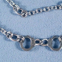 Handcuffs Stainless Steel Chainmaille Anklet or Bracelet Chain with steel clasp