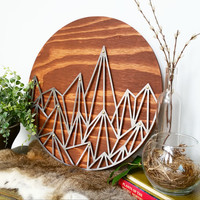 Modern Geometric Mountain Wall Hang
