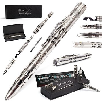 Tactical Personal Protection Multi-Purpose EDC Pen with LED Flashlight