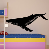 Vinyl Wall Decal Sticker Humpback Whale #OS_MB1101