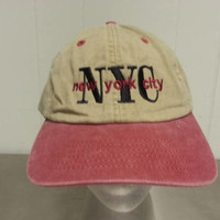 Vintage 90's New York City Tourist Cap Strap Back Dad Hat Hipster Style