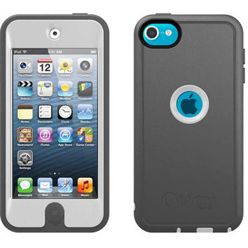 Grey&White Tri-Proof Otterbox Commuter Defender Case Cover & Sling For iPod Touch 5th Gen