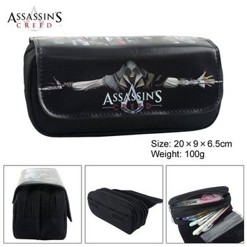 Anime Assassin Creed Puzzle Game Boy Girl Cartoon Pencil Case Bag School Pouches Children Student Pen Bag Kids Purse Wallet Gift