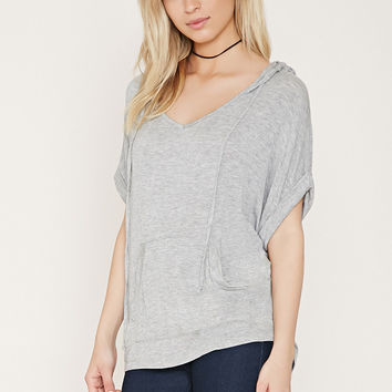 Hooded Heathered Top