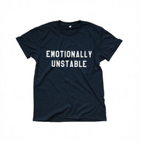 Emotionally unstable black t-shirts for women tshirts shirts gifts t-shirt womens tops