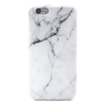 GOLINK iPhone 6/6S Case Slim-Fit Ultra-Thin Anti-Scratch Shock Proof Dust Proof Anti-Finger Print TPU Case for iPhone 6/iPhone 6S (4.7 inch) - Whole White Marble