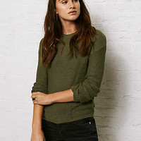 Don't Ask Why Ladder-Back Sweater, Olive
