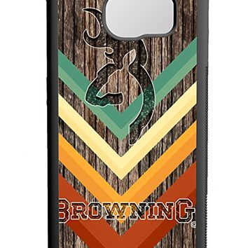 Browning Deer Geoetric Wood Samsung Galaxy S7 Edge Case Black