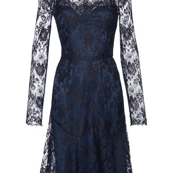 High-Neck Lace Mini Dress | Moda Operandi
