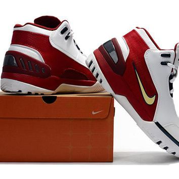 Nike Lebron 1 Air Zoom Genervation Sneaker - White/Red