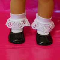 18 inch Doll Clothes fits American Girl White Ruffle Socks