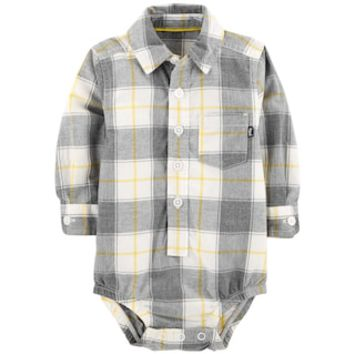 Baby Boy OshKosh B'gosh® Plaid Button Down Bodysuit | null