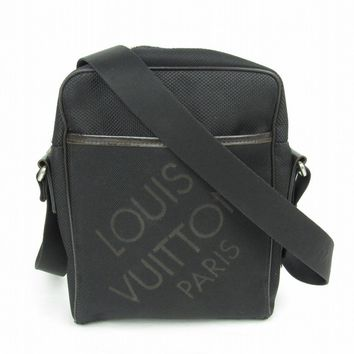 LOUIS VUITTON Damier Geant Citadin MM Shoulder Bag Black M93223
