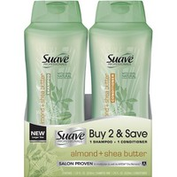 Suave Professionals Almond + Shea Butter Shampoo & Conditioner, 28 fl oz, Pack of 2 - Walmart.com
